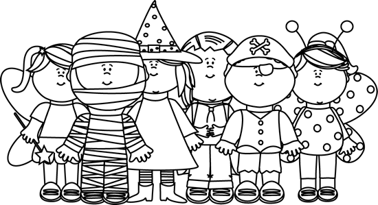 Black And White Halloween Clip Art For Kids1