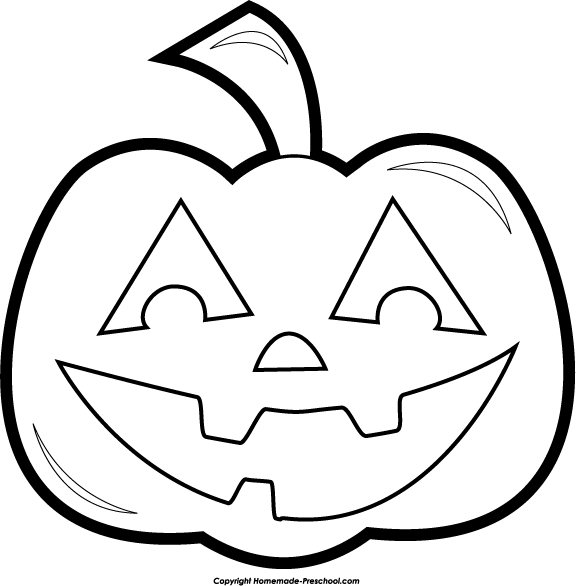 Black And White Halloween Clip Art4