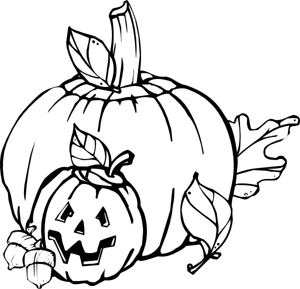 Black And White Halloween Clip Art5