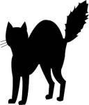 Black Cat Halloween Clip Art1 128×150