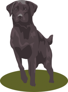 Black Lab Clip Art For Halloween1 220×300