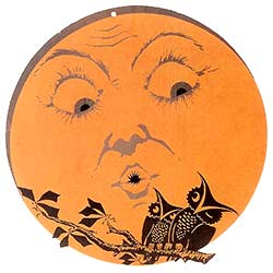 Clip Art Of Halloween Moon With Face