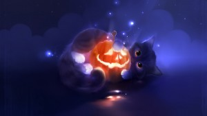 Cute Cat Halloween Backgrounds2 300×169
