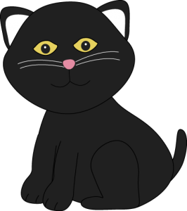 Cute Halloween Cat Clipart1 266×300