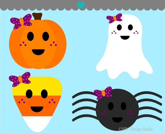 Pics For > Cute Halloween Background Clipart