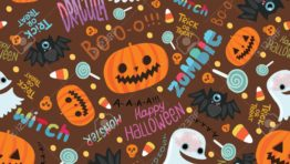 Cute Halloween Pattern Background