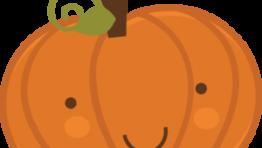 Cute Halloween Pumpkin Clipart 300×272
