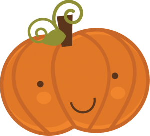 Cute Halloween Pumpkin Clipart 300×272