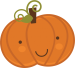 Cute Halloween Pumpkin Clipart1 150×136