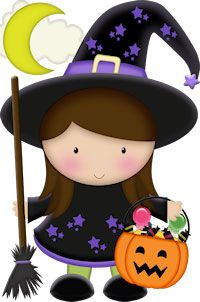 Cute Halloween Witch Clip Art1