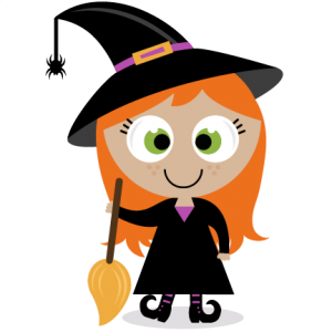 Cute Halloween Witch Clipart 300×300