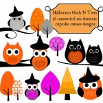 Cute Owl Halloween Clipart3 150×150