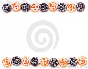Halloween Candy Border 300×234