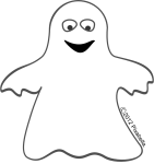 Halloween Clip Art Black And White Ghost5 141×150