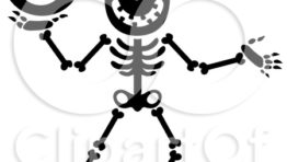 Halloween Clip Art Black And White Skeleton2