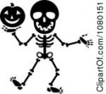 Halloween Clip Art Black And White Skeleton3 150×133