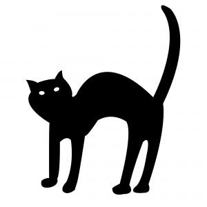 Halloween Clip Art Black Cat1 300×300