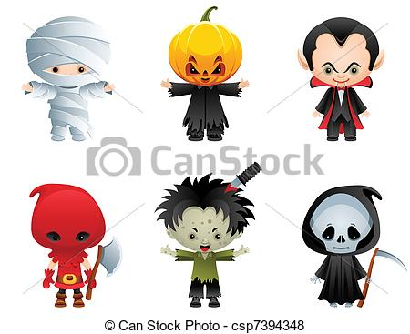 Halloween Clip Art Characters
