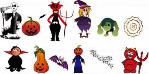 Halloween Clip Art Characters1 300×151