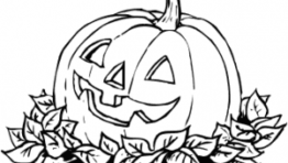 Halloween Clip Art Coloring Pages 300×204