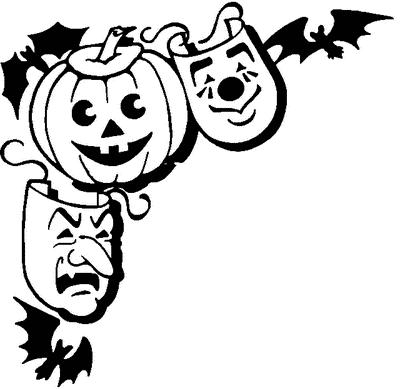 Halloween Clip Art Corners1