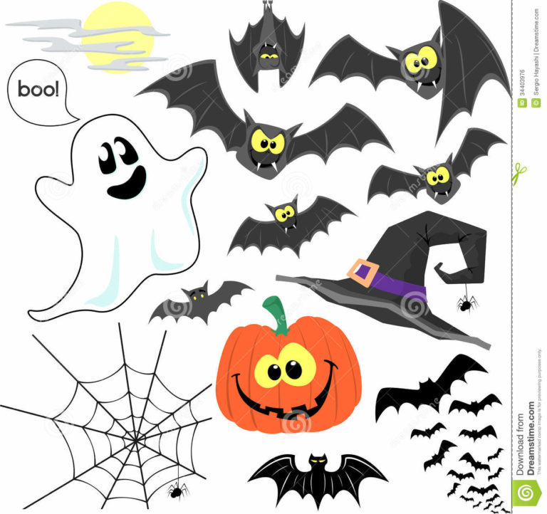 Halloween Clip Art Decorations 768×722