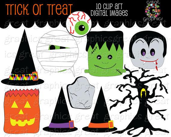 Halloween Clip Art Dracula Frankenstein7