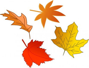 Halloween Clip Art Fall Leaves
