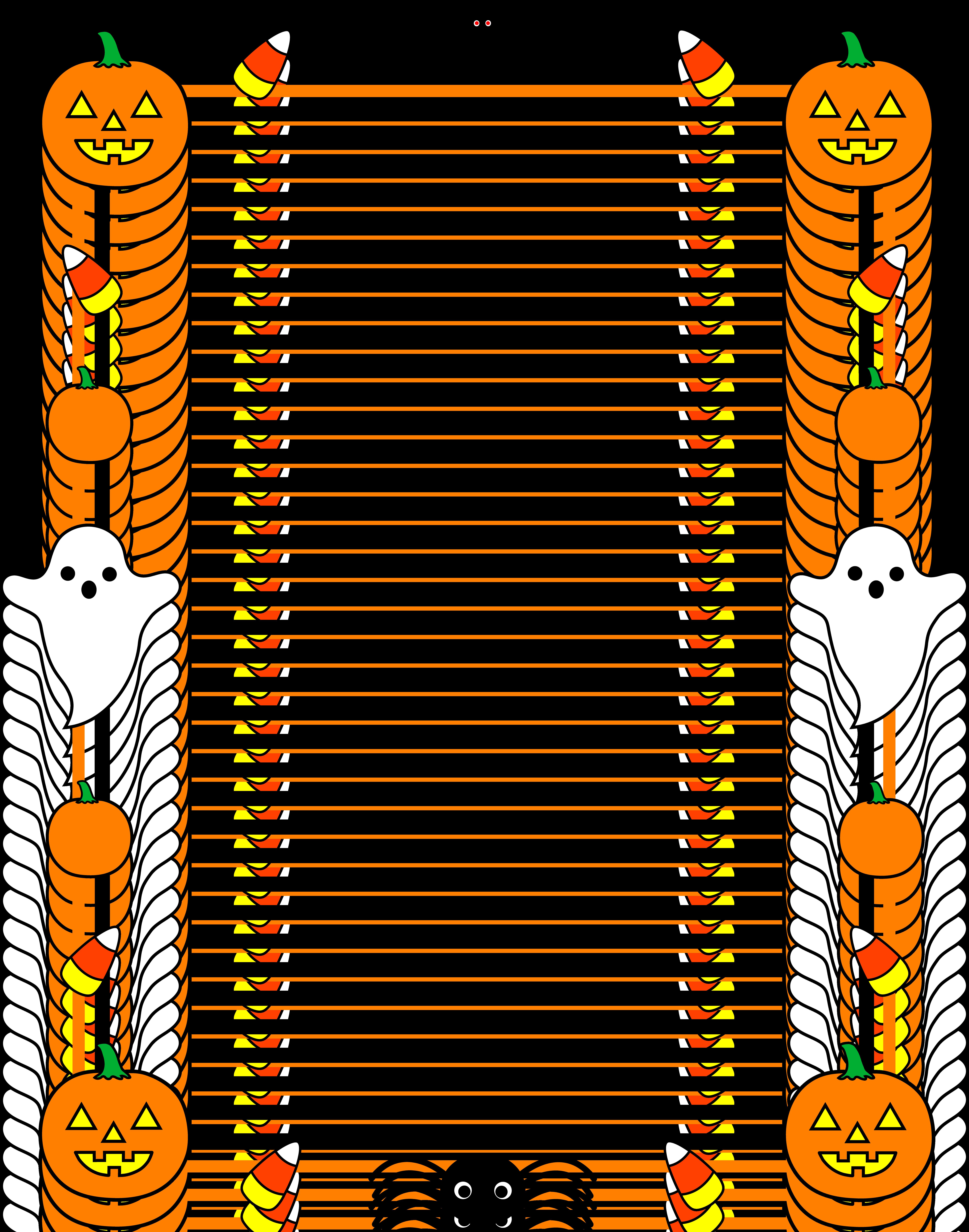 Halloween Clip Art Free Borders3
