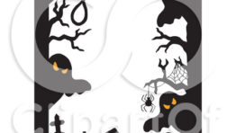 Halloween Clip Art Ghost Border1