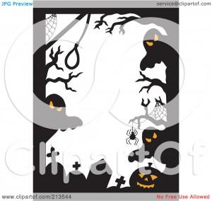 Halloween Clip Art Ghost Border2 300×284