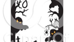 Halloween Clip Art Ghost Border4
