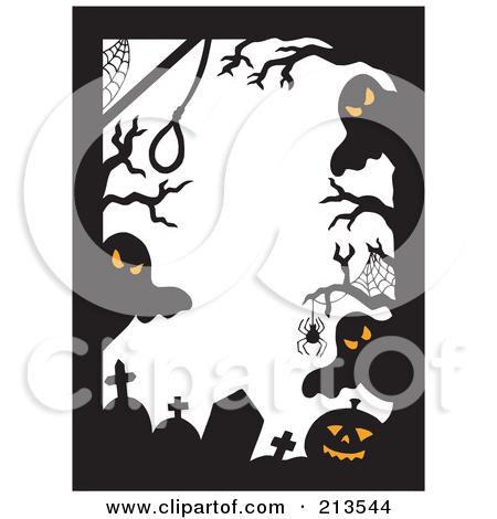 halloween clip art ghost border4 - Halloween Clip Art Border