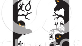 Halloween Clip Art Ghost Border5