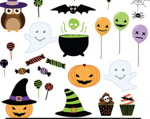 Halloween Clip Art Invitation2 300×238