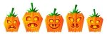 Halloween Clip Art Pumpkin Rows1 150×50