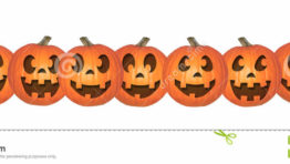 Halloween Clip Art Pumpkin Rows6