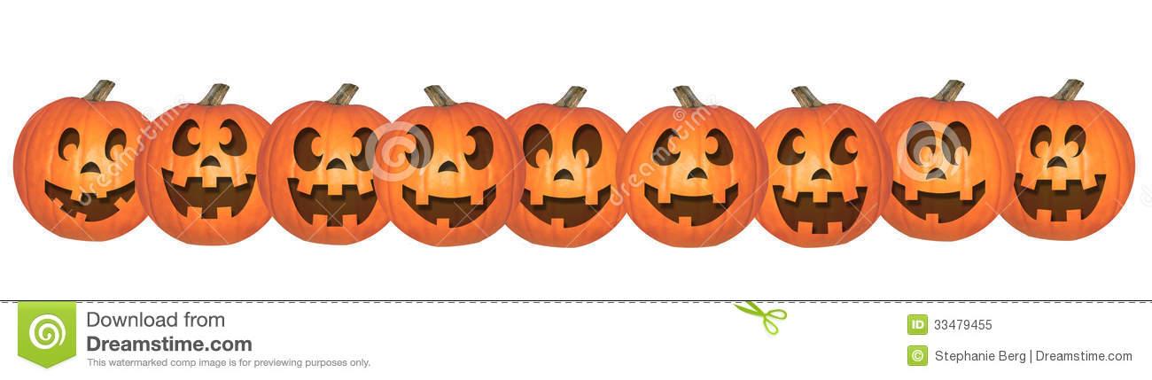Halloween Clip Art Pumpkin Rows6