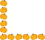 Halloween Clip Art Pumpkin Rows7 150×136
