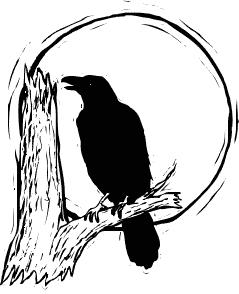 Halloween Clip Art Raven1
