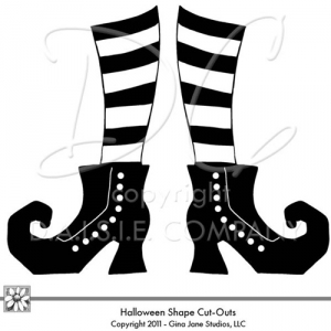 Halloween Clip Art Witches Shoes5