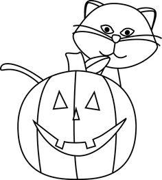 Halloween Clipart B W1