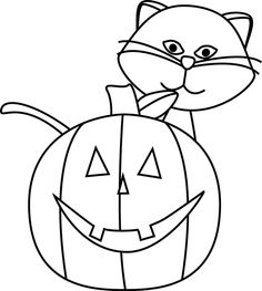 Halloween Clipart B W3
