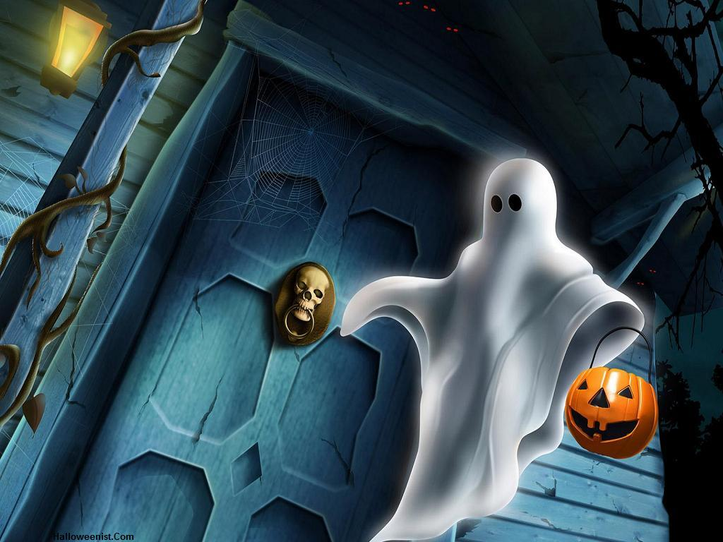 Halloween Ghost Background4