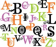 Halloween Letters Clip Art1