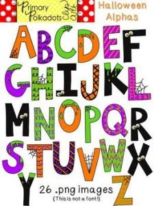 Halloween Letters Clip Art4 225×300