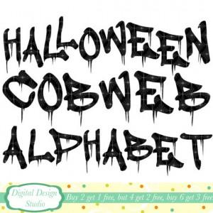 Halloween Letters Clip Art8 300×300