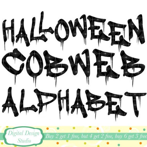 Halloween Letters Clip Art8
