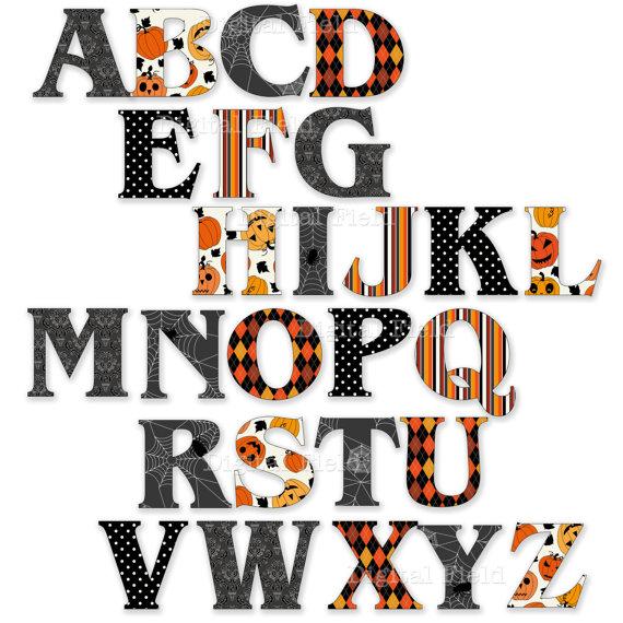 Halloween Letters Clip Art9