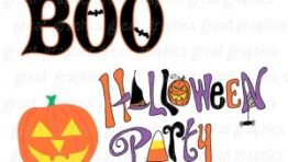 Halloween Party Clip Art3 300×240